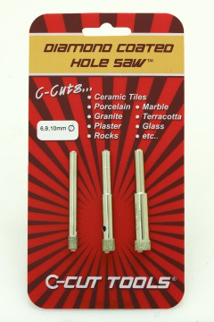 6, 8, 10mm DCHS Hole Saws / Drill Bits