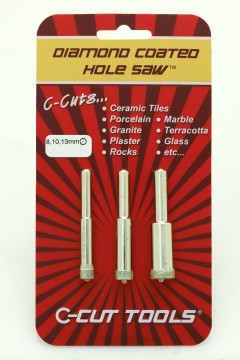 8, 10, 13mm DCHS Hole Saws/ Drill Bits