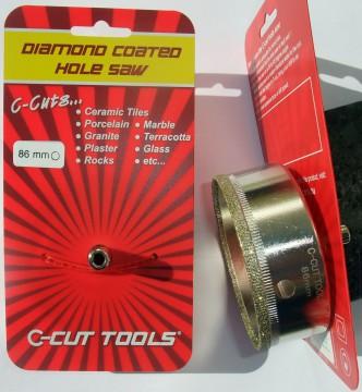 86mm DIAMOND COATED HOLE SAW